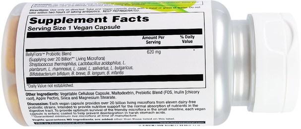 補充劑,益生菌 - VegLife, BellyFlora, 20 Billion, 50 Vegan Capsules