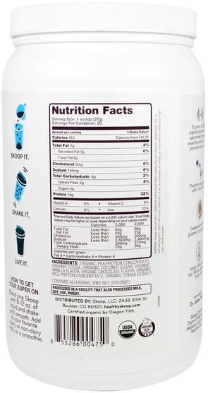 補充劑,蛋白質 - Healthy Skoop, B-Strong, Plant-Based Protein Shake, Chocolate, 19 oz (540 g)