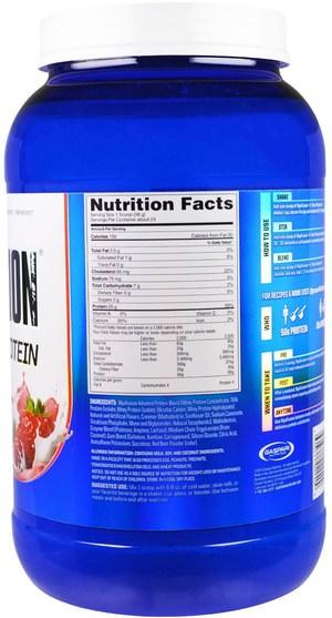 補品,蛋白質,肌肉 - Gaspari Nutrition, MyoFusion, Advanced Protein, Strawberries & Cream, 2 lbs (907 g)