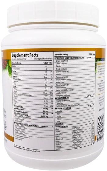 補品,蛋白質,超級食品 - Macrolife Naturals, MacroMeal, Vegan, Chocolate Protein + Superfoods, 44.4 oz (1.260 g)