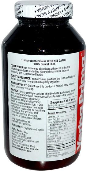 補品,洋車前子殼 - Yerba Prima, Psyllium Husks Powder, 12 oz (340 g)
