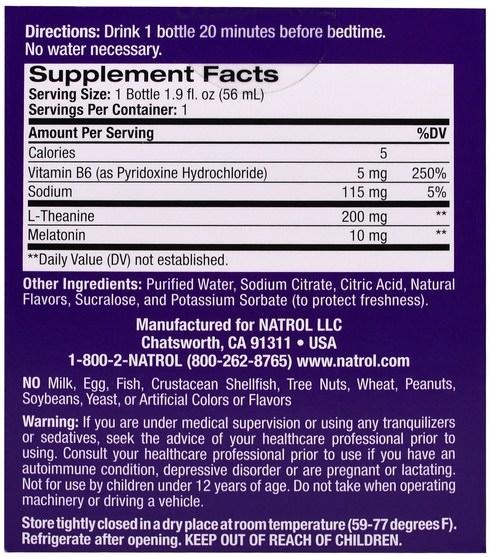 補充劑,睡眠,褪黑激素 - Natrol, E-Z Sleep, Sleep Shot, Maximum Strength Melatonin, Mixed Berry, 4 Pack, 1.9 oz (56 ml)