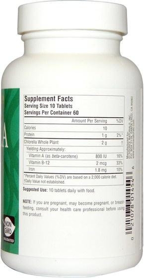 補品,超級食品,小球藻yaeyama - Source Naturals, Yaeyama Chlorella, 200 mg, 600 Tablets