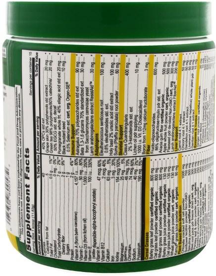 補品,超級食品,綠色蔬菜,綠色活力 - Vibrant Health, Green Vibrance +25 Billion Probiotics, Version 16.0, 6.26 oz (177.45 g)