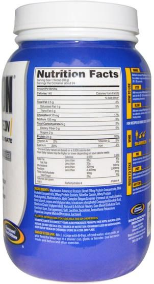 補充劑,乳清蛋白,肌肉 - Gaspari Nutrition, MyoFusion, Advanced Protein, Peanut Butter Cookie, 2 lbs (907 g)