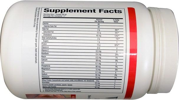 補充劑,乳清蛋白 - Natural Factors, Whey Factors, 100% Natural Whey Protein, Natural Strawberry Flavor, 12 oz (340 g)
