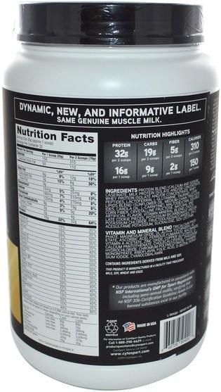 補充劑,乳清蛋白,鍛煉 - Cytosport, Inc, Genuine Muscle Milk, Natures Ultimate Lean Muscle Protein, Cookies N Cream, 39.5 oz (1120 g)