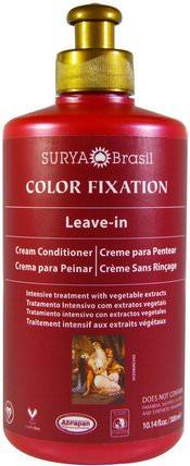 Color Fixation, Leave-In Cream Conditioner, 10.14 fl oz (300 ml) by Surya Henna, 洗澡,美容,護髮素,頭髮,頭皮,洗髮水,護髮素 HK 香港