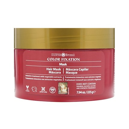 Color Fixation - Restorative Hair Mask, 7.6 fl oz (225 g) by Surya Henna, 洗澡,美容,護髮素,頭髮,頭皮,洗髮水,護髮素 HK 香港