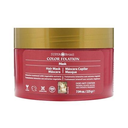 Color Fixation - Restorative Hair Mask, 7.6 fl oz (225 g) by Surya Henna, 洗澡,美容,護髮素,頭髮,頭皮,洗髮水,護髮素 HK 香港