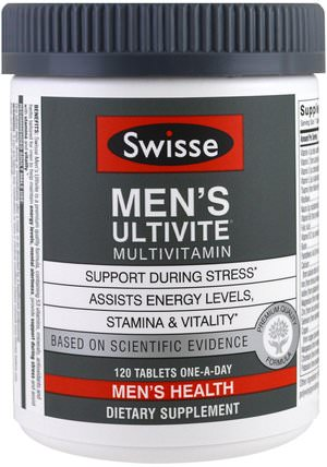 Mens Ultivite Multivitamin, Mens Health, 120 Tablets by Swisse, 維生素,男性多種維生素 HK 香港