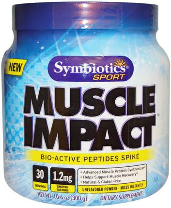 Symbiotics, Sport, Muscle Impact, Unflavored Powder, 10.6 oz (300 g) 補品,牛製品,初乳,運動,肌肉
