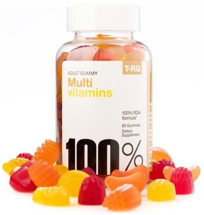 Multi Vitamins, Adult Gummy, Cherry Lemon Orange, 60 Gummies by T.RQ, 維生素,多種維生素,多種維生素 HK 香港