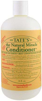 The Natural Miracle Conditioner, 18 fl oz by Tates, 洗澡,美容,頭髮,頭皮,洗髮水,護髮素,健康,皮膚 HK 香港