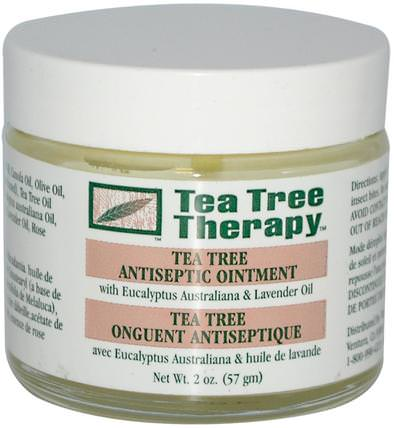 Tea Tree Antiseptic Ointment, 2 oz (57 g) by Tea Tree Therapy, 健康,皮膚,茶樹,茶樹製品,傷害燒傷 HK 香港