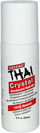Deodorant Roll-On, 3 fl oz (90 ml) by Thai Deodorant Stone, 洗澡,美容,除臭石頭 HK 香港