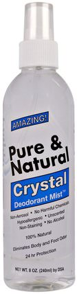 Pure & Natural, Crystal Deodorant Mist, Unscented, 8 oz (240 ml) by Thai Deodorant Stone, 洗澡,美容,除臭噴霧 HK 香港