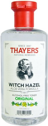 Witch Hazel, Aloe Vera Formula, Alcohol-Free Toner, Original, 12 fl oz (355 ml) by Thayers, 美容,面部調色劑,皮膚,金縷梅 HK 香港