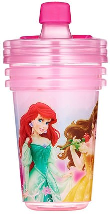 Disney Princess, Take & Toss Sippy Cups, 9+ Months, 3 Pack - 10 oz (296 ml) by The First Years, 兒童健康,嬰兒餵養,吸管杯 HK 香港