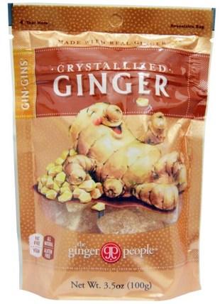 GinGins, Crystallized Ginger, 3.5 oz (100 g) by The Ginger People, 食物,小吃,糖果 HK 香港