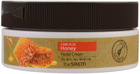 Care Plus Honey Facial Cream, 6.76 fl oz (200 ml) by The Saem, 美容,面部護理 HK 香港