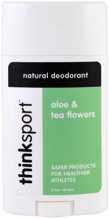 Thinksport, Natural Deodorant, Aloe & Tea Flowers, 2.9 oz (85.8 ml) by Think, 洗澡,美容,除臭劑 HK 香港
