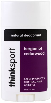 Thinksport, Natural Deodorant, Bergamot Cedarwood, 2.9 oz (85.8 ml) by Think, 洗澡,美容,除臭劑 HK 香港