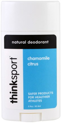 Thinksport, Natural Deodorant, Chamomile Citrus, 2.9 oz (85.8 ml) by Think, 洗澡,美容,除臭劑 HK 香港