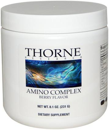 Amino Complex, Berry Flavor, 8.1 oz (231 g) by Thorne Research, 補充劑,氨基酸 HK 香港