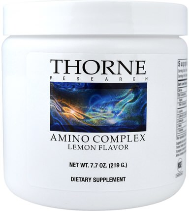 Amino Complex, Lemon Flavor, 7.7 oz (219 g) by Thorne Research, 補充劑,氨基酸,運動 HK 香港
