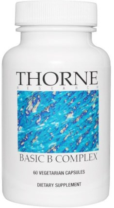 Basic B Complex, 60 Vegetarian Capsules by Thorne Research, 維生素,維生素b複合物,葉酸,5-mthf葉酸(5甲基四氫葉酸) HK 香港