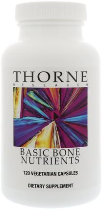 Basic Bone Nurtients, 120 Vegetarian Capsules by Thorne Research, 補品,健康,骨骼 HK 香港