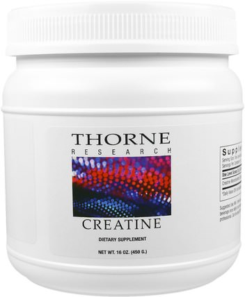 Creatine, 16 oz (450 g) by Thorne Research, 運動,肌酸 HK 香港