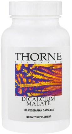 Dicalcium Malate, 120 Vegetarian Capsules by Thorne Research, 補品,礦物質,蘋果酸鈣 HK 香港