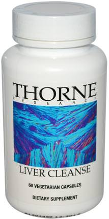Liver Cleanse, 60 Vegetarian Capsules by Thorne Research, 健康,肝臟支持,草藥,小蘗 - 小蘗鹼 HK 香港