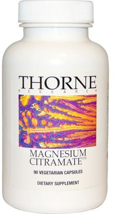 Magnesium Citramate, 90 Vegetarian Capsules by Thorne Research, 補充劑,礦物質,檸檬酸鎂 HK 香港