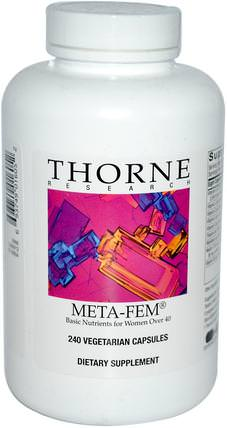 Meta-Fem, 240 Vegetarian Capsules by Thorne Research, 維生素,多種維生素,更年期 HK 香港