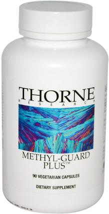 Methyl-Guard Plus, 90 Vegetarian Capsules by Thorne Research, 維生素,葉酸,5-mthf葉酸(5甲基四氫葉酸),健康,注意力缺陷障礙,添加,adhd,腦 HK 香港