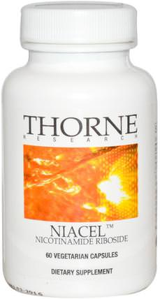 Niacel, Nicotinamide Riboside, 60 Vegetarian Capsules by Thorne Research, 補充劑,煙酰胺核苷,注意力缺陷障礙,添加,adhd,腦 HK 香港