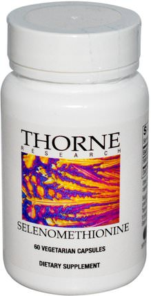 Selenomethionine, 60 Vegetarian Capsules by Thorne Research, 補充劑,抗氧化劑,硒 HK 香港