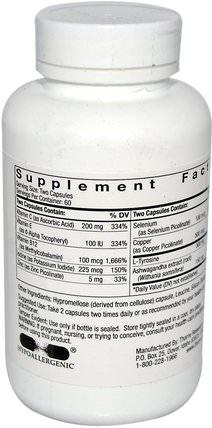 Thyrocsin, Thyroid Cofactors, 120 Vegetarian Capsules by Thorne Research, 健康,甲狀腺 HK 香港