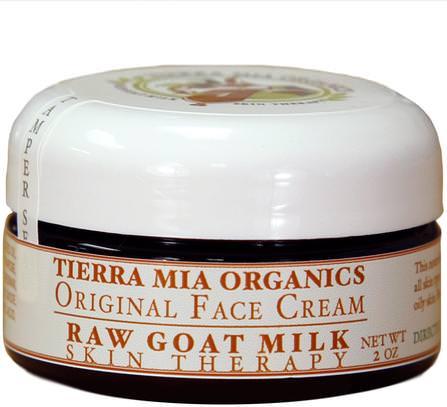 Raw Goat Milk Skin Therapy, Original Face Cream, 2 oz by Tierra Mia Organics, 美容,面部護理,皮膚型酒渣鼻,敏感皮膚,健康,痤瘡,皮膚類型的痤瘡皮膚 HK 香港