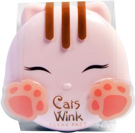 Cats Wink, Clear Pact, #2 Clear Beige, 0.38 oz by Tony Moly, 沐浴,美容,化妝,粉餅 HK 香港