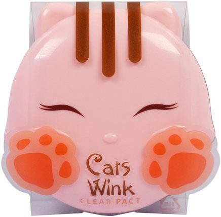 Cats Wink, Clear Pact, Light Beige.38 oz (11 g) by Tony Moly, 沐浴,美容,化妝,粉餅 HK 香港