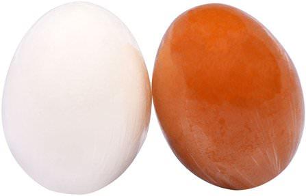 Egg Pore Shiny Skin Soap, 2 Pieces 1.7 oz (50 g) Each by Tony Moly, 洗澡,美容,面部護理,洗面奶 HK 香港