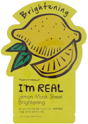 Im Real, Lemon Mask Sheet, Brightening by Tony Moly, 健康 HK 香港