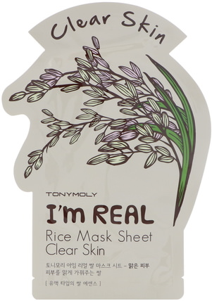 Im Real, Rice Mask Sheet, Clear Skin by Tony Moly, 健康 HK 香港