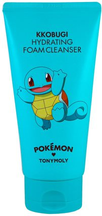 Tony Moly, Pokemon, Foam Cleanser, Hydrating, Kkobugi, 150 ml 美容,面部護理