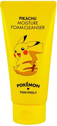 Pokemon, Foam Cleanser, Moisture, Pikachu, 150 ml by Tony Moly, 美容,面部護理 HK 香港