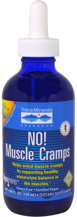 No! Muscle Cramps, 4.06 fl oz (120 ml) by Trace Minerals Research, 健康,抗疼 HK 香港